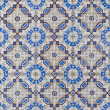 Detail of Portuguese glazed tiles — Stock Photo