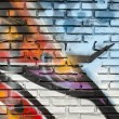 Stock Photo: Graffiti wall background