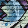 Graffiti wall background — Stock Photo