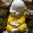 Earthenware of child monk — Stock Photo