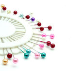 Colorful pins isolated on a white background — Stock Photo