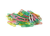 Paper clips isolated on white background. — Stock Photo