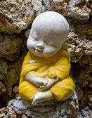 Earthenware of child monk — Stock Photo