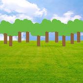 árbol del cielo de la pradera — Foto de Stock