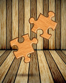 Wood Jigsaw — Stock Photo