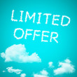 Limited offre cloud — Stock Photo