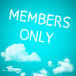 Stock Photo: Members only cloud