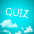 Quiz cloud — Stock Photo