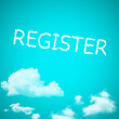 Stock Photo: Register cloud