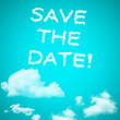 Stock Photo: Save the date cloud