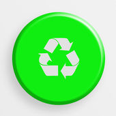 Icon recycle button — Stock Photo