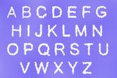 Moln text med design på blå himmel bakgrund — Stockfoto