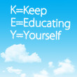 KEY acronym - KEEP EDUCATING YOURSELF — Stockfoto
