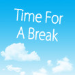 Time For A Break cloud icon with design on blue sky background — Photo
