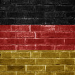 Germany flag painted on a brick wall — Stock Photo