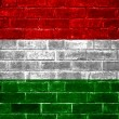 Hungary flag painted on a brick wall — Stock Photo