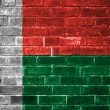 Madagascar flag painted on a brick wall — Stock Photo