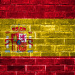 Spain flag painted on a brick wall — Stock Photo
