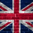 Union flag on a brick wall background — Stock Photo
