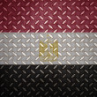 Egypt Flag Seamless steel diamond plate — Stock Photo
