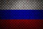 Russland flagge nahtlose diamant stahlplatte — Stockfoto