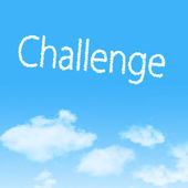 Moln ikonen med design på blå himmel bakgrund — Stockfoto