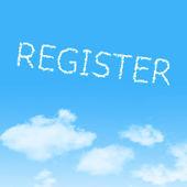 Chmura ikona z projektu na tle błękitnego nieba — Zdjęcie stockowe