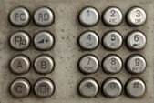 Old Telephone buttons — Stock Photo