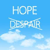Choosing Hope instead of Despair — Stock Photo