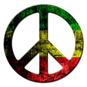 Peace sign rasta — Stock Photo