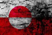 Bandeira do grunge da gronelândia — Fotografia Stock