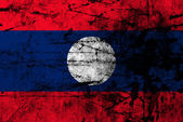 Grunge flag of laos — Stock Photo