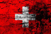 Grunge flag of switzerland — Stock Photo