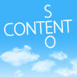 Content SEO crossword cloud icon with design on blue sky background — Stock Photo #43963347