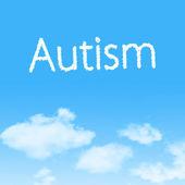Аутизм облако значок с дизайном на фоне голубого неба — Стоковое фото