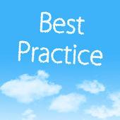 ícone de nuvem melhor prática com projeto sobre fundo de céu azul — Foto Stock