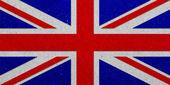 United Kingdoml grunge flag on paper background — Foto de Stock