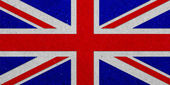 United Kingdoml grunge flag on paper background — 图库照片