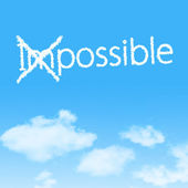 Impossible into Possible — Stock Photo