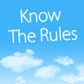 Know The Rules cloud icon with design on blue sky background — Stock Photo