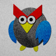 Owl made from recycled paper background — Stock Photo #43977917