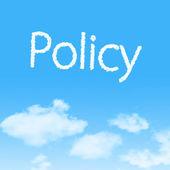Beleid wolk pictogram met ontwerp op blauwe hemelachtergrond — Stockfoto