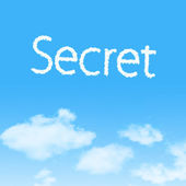 Secret  cloud icon with design on blue sky background — Stock Photo