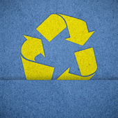 Recycle sign paper texture — Stock Photo
