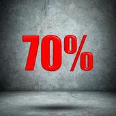 コンクリートの壁に 70 % — ストック写真