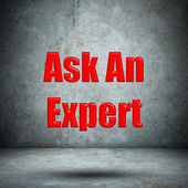 Ask An Expert on concrete wall — Stock Photo