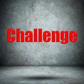 Desafío en muro de hormigón — Foto de Stock