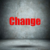 Change on concrete wall — Stock Photo