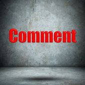 Comment on concrete wall — Stock Photo