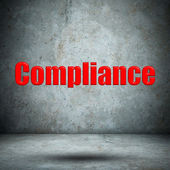 Compliance on concrete wall — Stock Photo